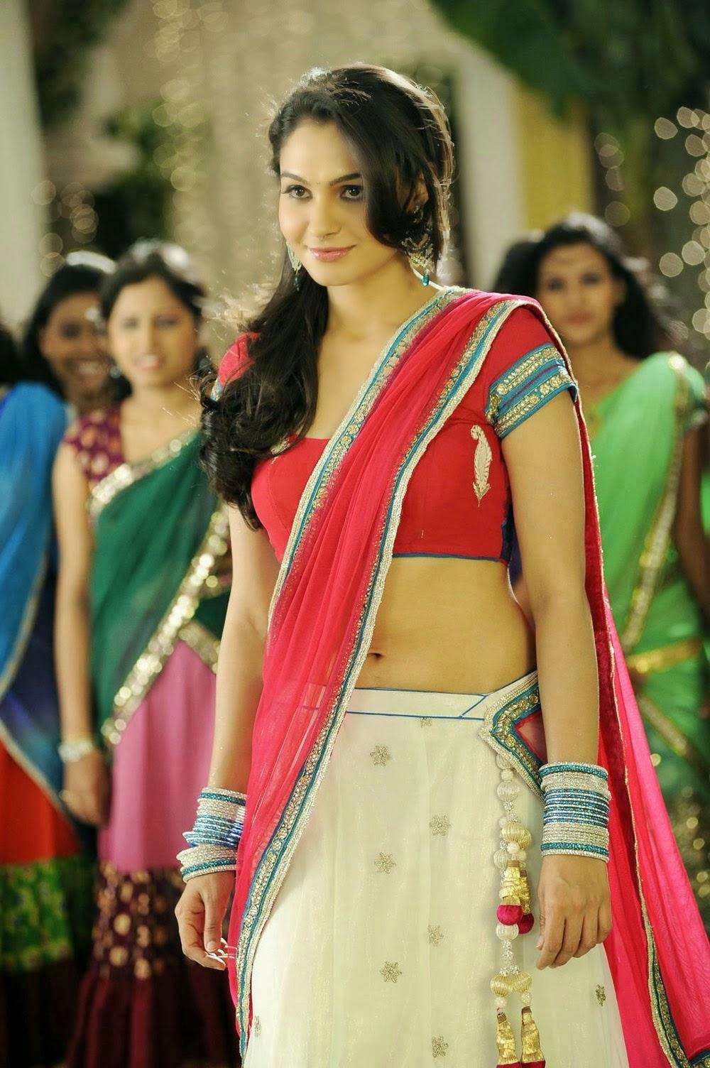 Andrea Jeremiah - Hot New Photos in Saree Navel Show