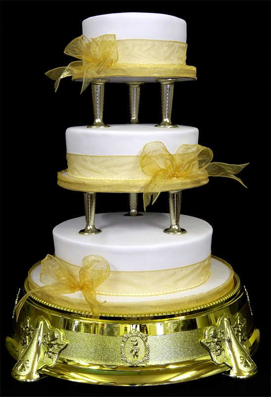 Yellow and White Wedding Cakes