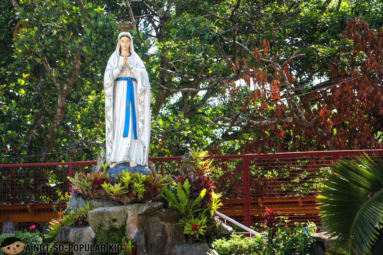 Statue of Mama Mary in Our Lady of Lourdes Church