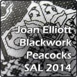 Joan Elliott Peacock Blackwork SAL