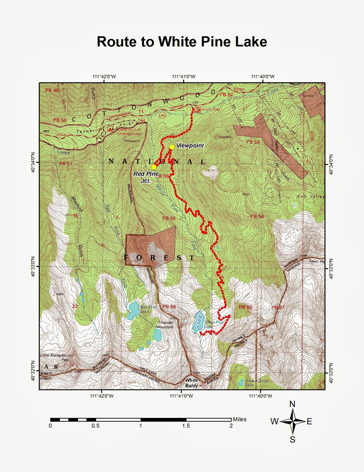 to reach the white pine trailhead from the salt lake valley take the 6200 south exit exit 6 off of i 215 and turn right at the light onto wasatch