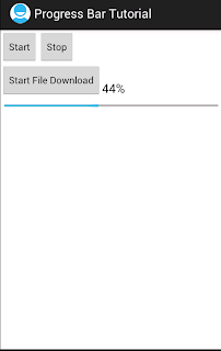 Android horizontal progress bar