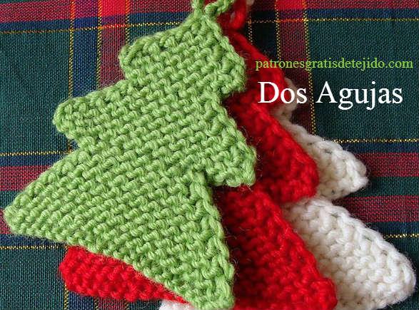 pino tricot para decoración navideña moldes