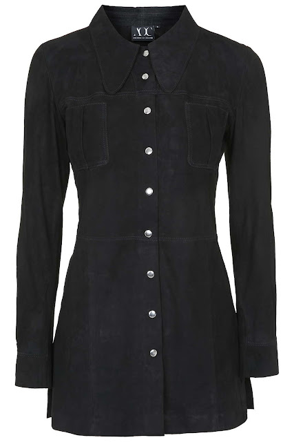 black suede shirt, absence of colour black shirt,