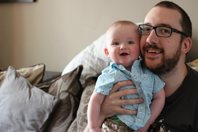 Happy Daddy and Squidge