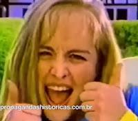 Angélica como garota propaganda do Biotônico Fontoura em 1996.