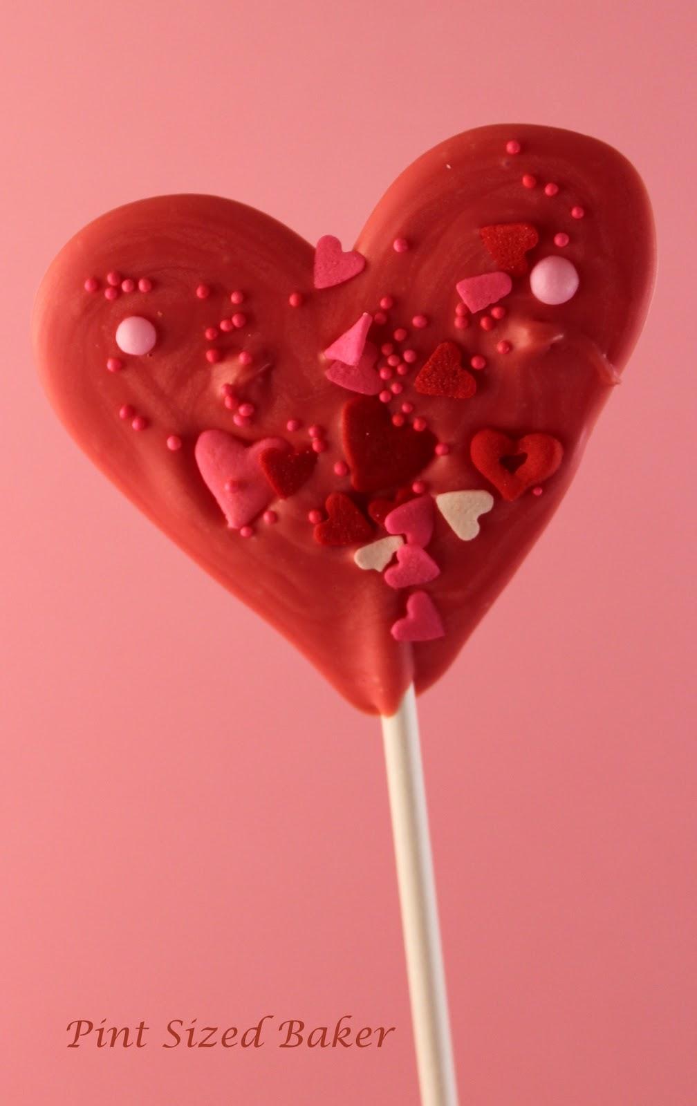 valentines heart lollipops pint sized baker