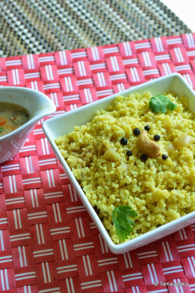 Foxtail Millet Pongal