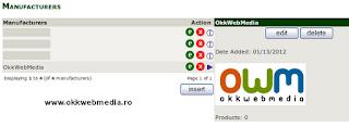 adaugare producator - tutoriale Zencart- OkkWebMedia
