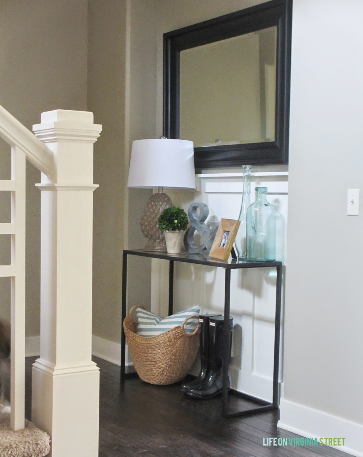 Foyer Console Update : An entryway update with holly martin life on virginia