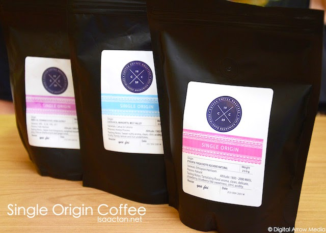Some of the single origin beans served by Infusion
