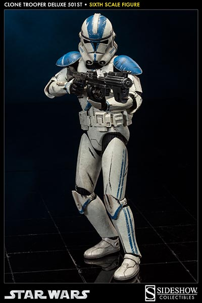 "Sideshow Collectibles 1/6 Scale Star Wars 12"" Clone Trooper 501st Legion Figure"
