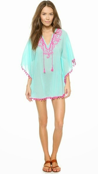 BENGAL EMBROIDERED COVER UP TUNIC ONDADEMAR