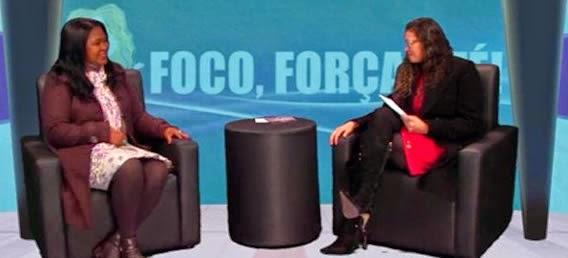Miriam Monteiro e Zezé Paulino no programa Foco Força e Fé