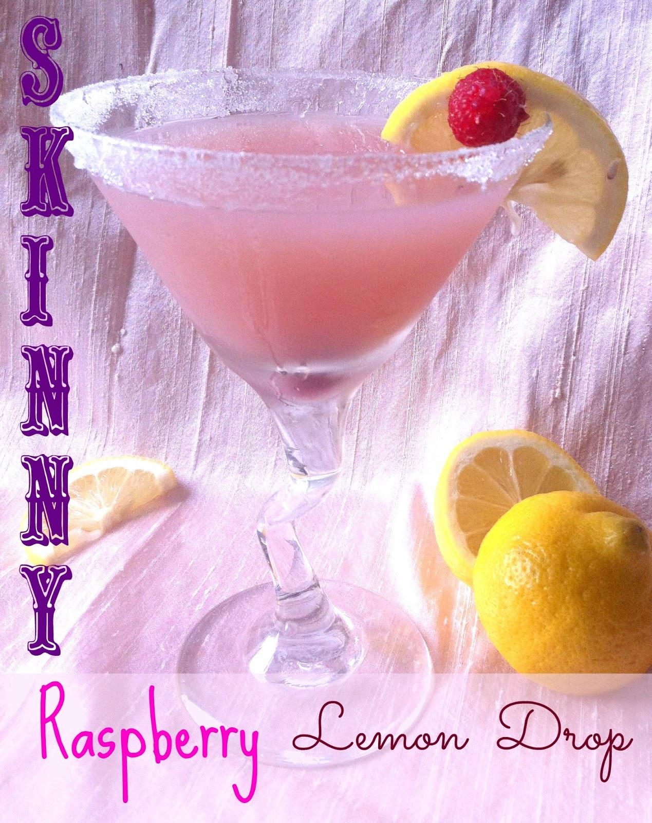 Yum! Raspberry Lemon Drop Martini