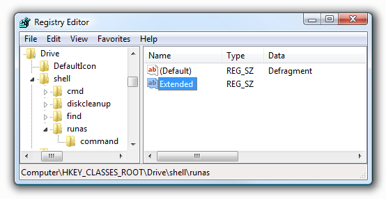 defrag run command