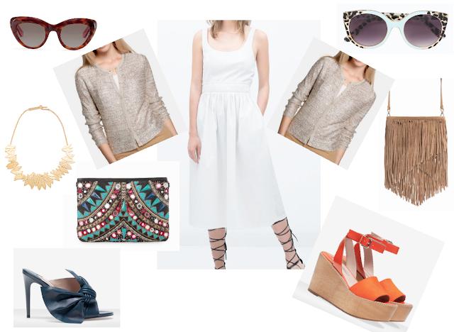 Reutilizar Rebeca bronce con lentejuelas para diario, propuesta  vestido blanco