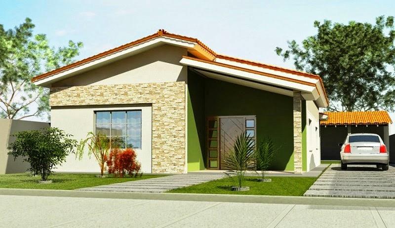 Fachadas de casas simples e pequenas