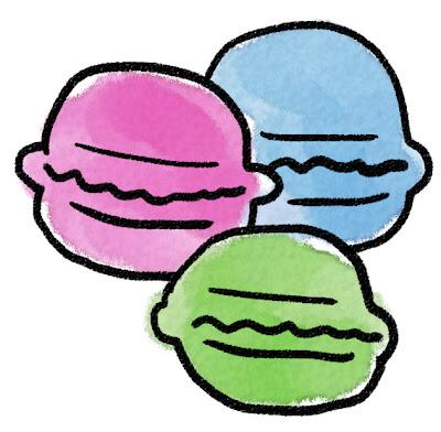 マカロンのイラスト(お菓子)