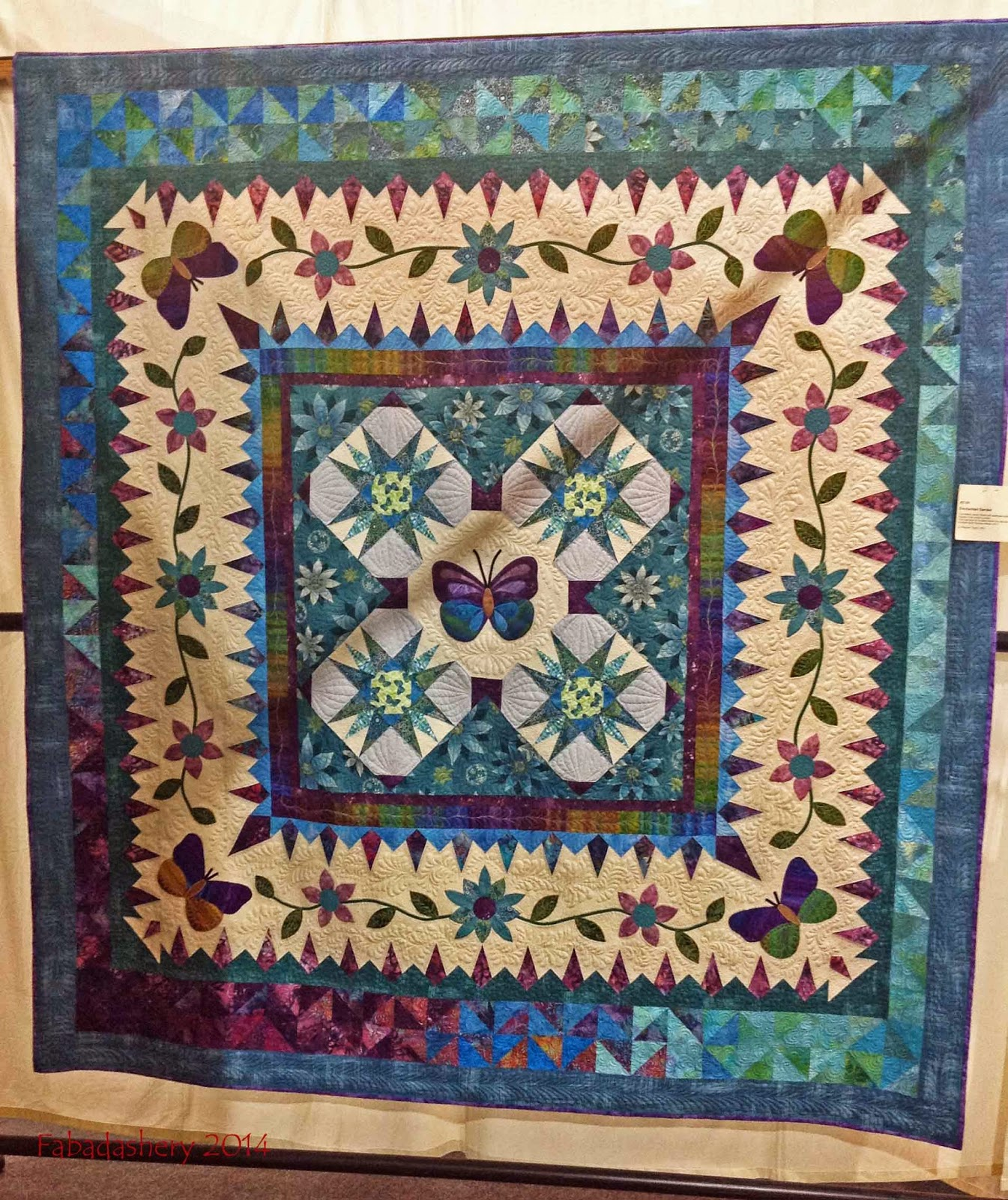 'Enchanted Garden' Quilt by Rhianon Taylor