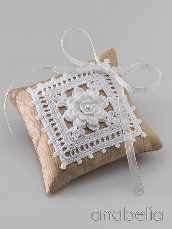 Wedding rings cushion by Anabelia