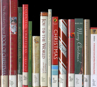 Shelf of Christmas books