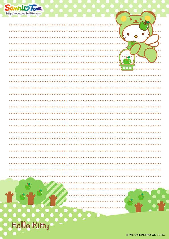 Princess writing paper – Printable Notepad Paper