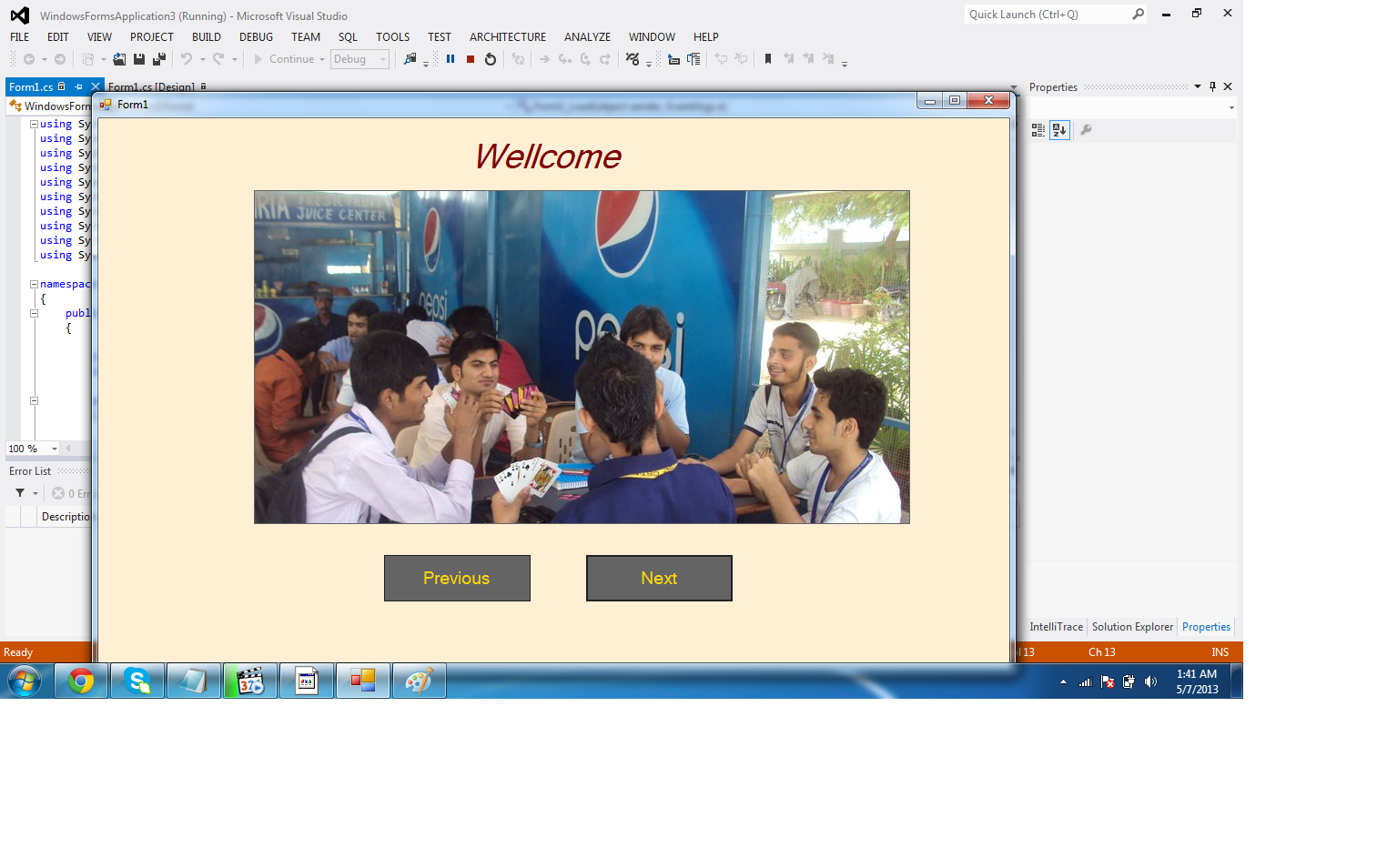 How to get many Pictures in picture box with button C#