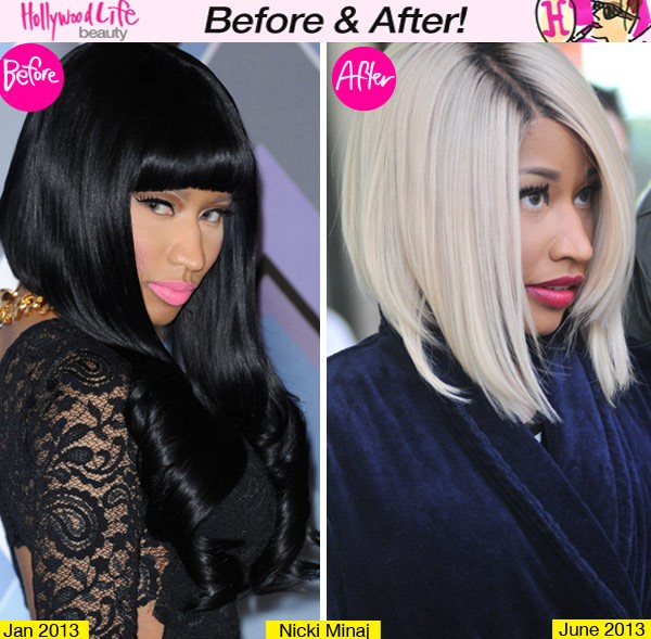 Blonde Beauty Nicki Minaj Rocks New Bob Hairstyle Look