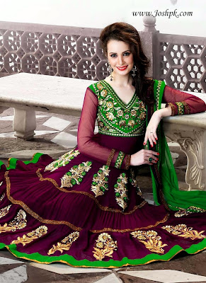 Latest Indian Anarkali Dresses For Ladies 2013