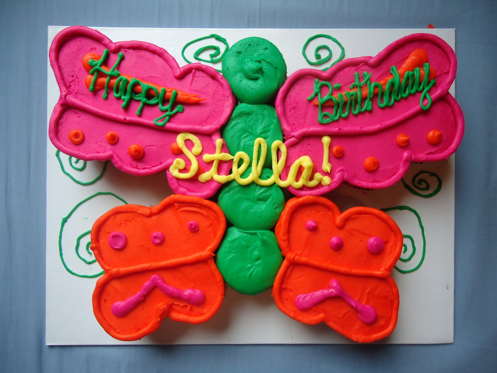 kraftykym Target bakery butterfly cake