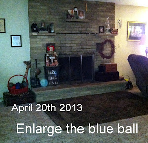 Strange blue orb