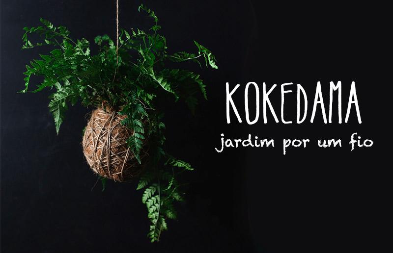 """Kokedama: o que é e como fazer passo-a-passo - o arranjo """"bola de musgo"""""""