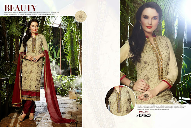 New Fashionable Cambric Cotton Long Salwar Kameez