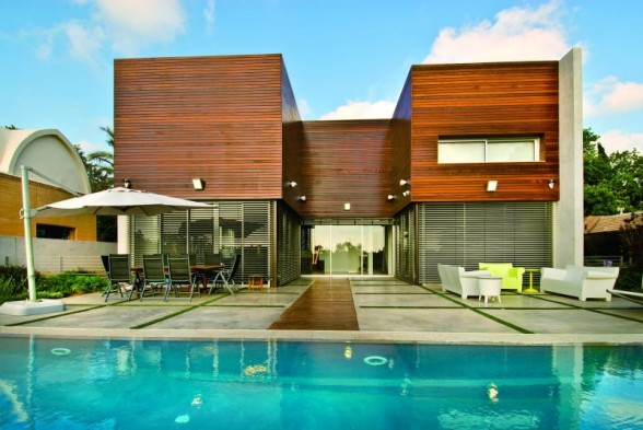 Bedroom design blog the modern design of concrete and - Maison wooden concrete nestor sandbank ...