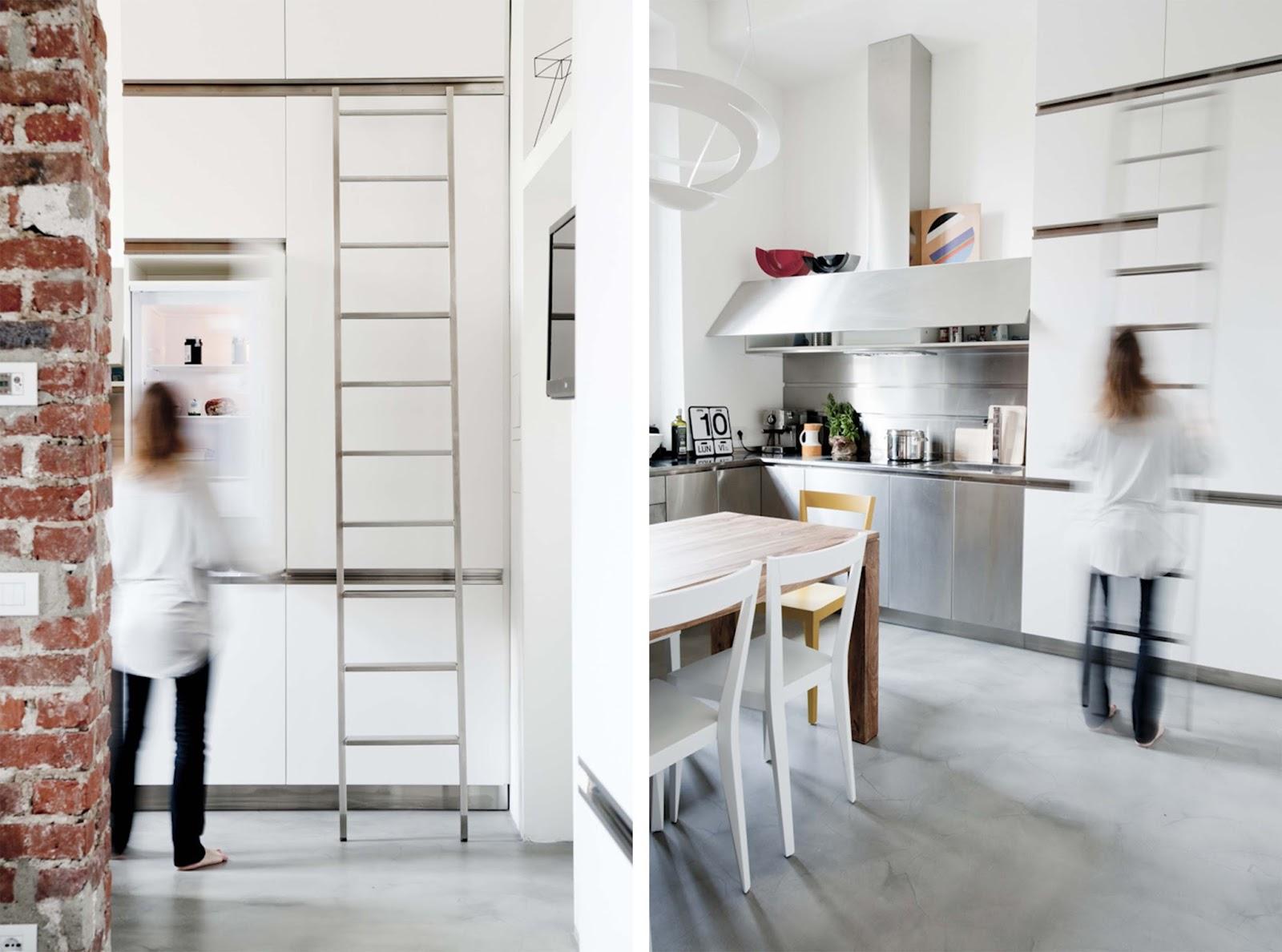 Arredamento monolocale 30 mq soggiorno cucina open space - Cucina con soppalco ...