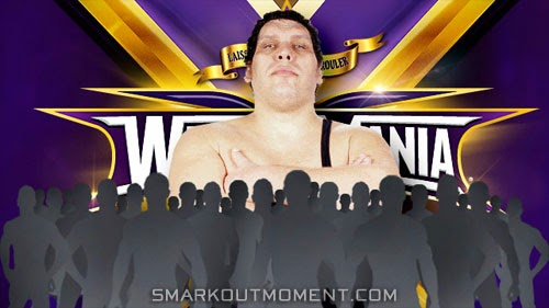 WWE wins Andre Giant WrestleMania 2014 Battle Royal Memorial Over the Top Rope Match