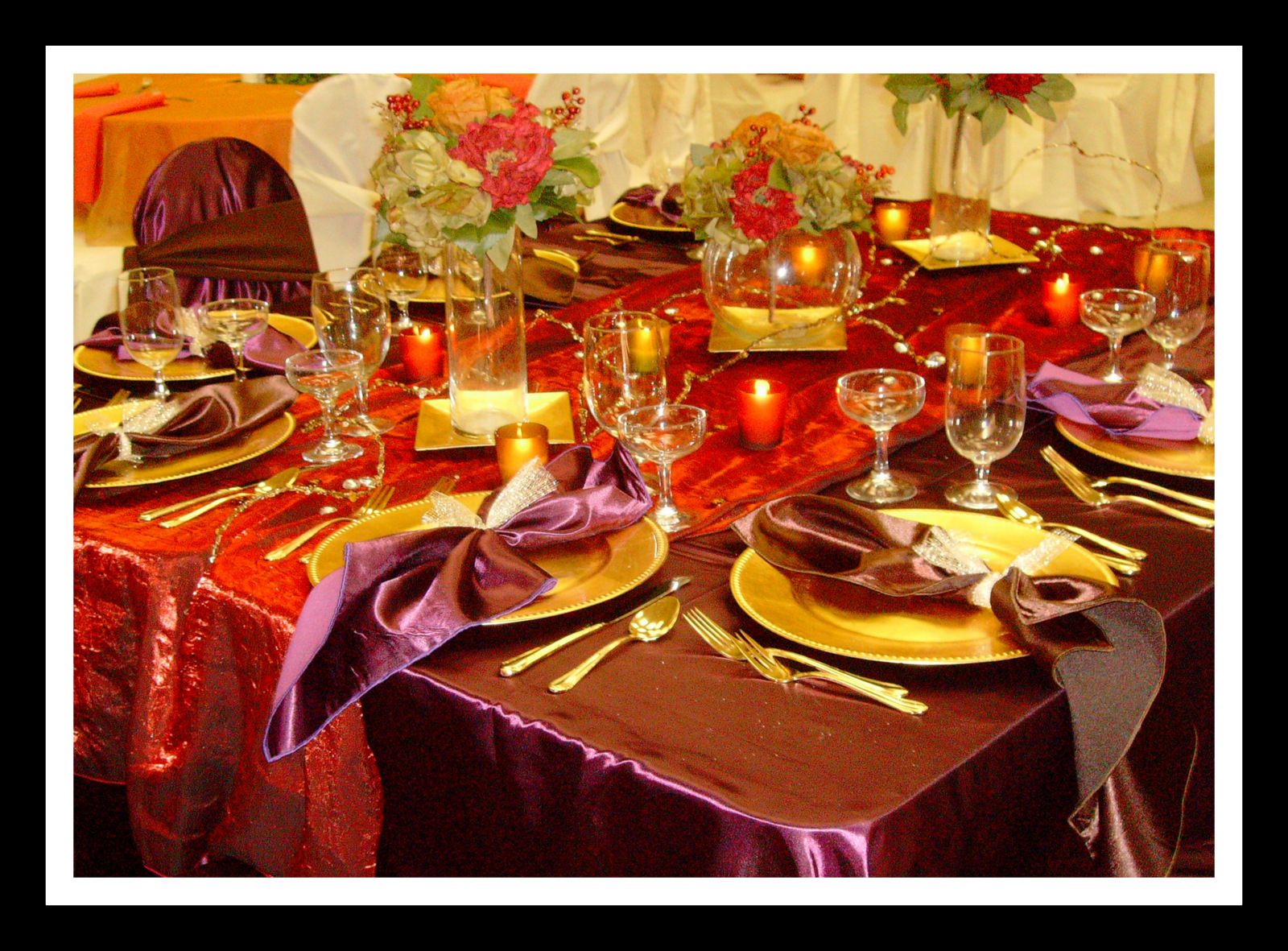 Purple And Red Table Decorations Photograph | ... Pics In Ou