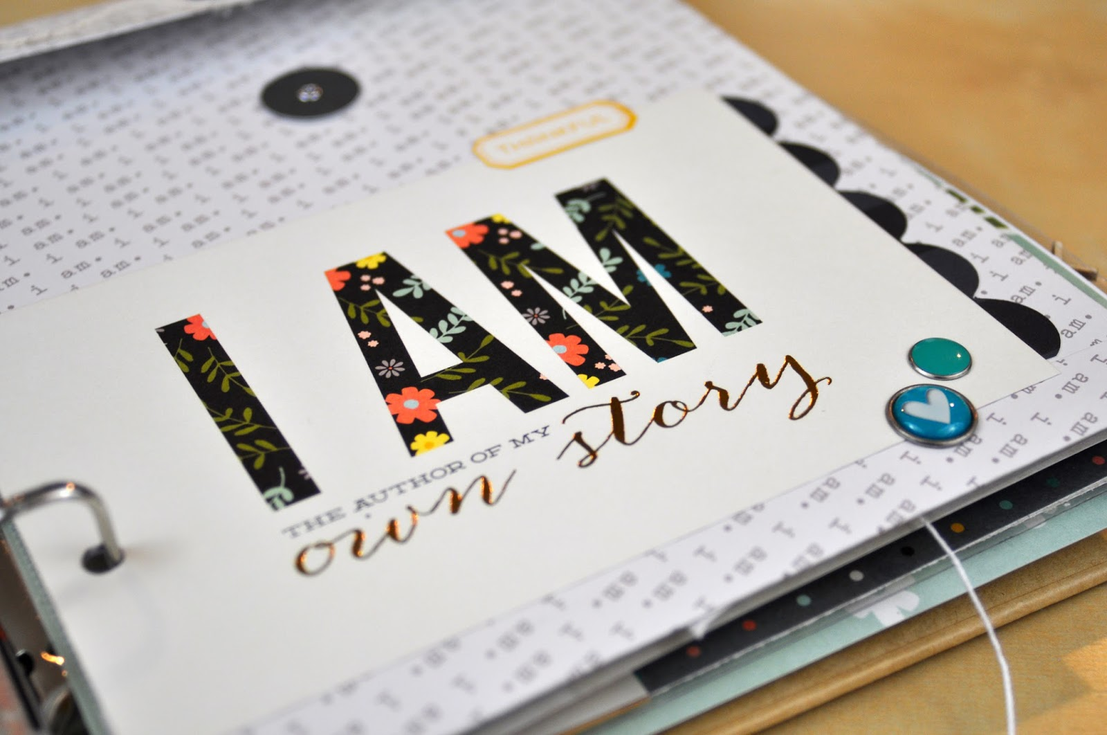 I Am All About Me Album by Jen Gallacher For Scrapbook and Cards Today Magazine