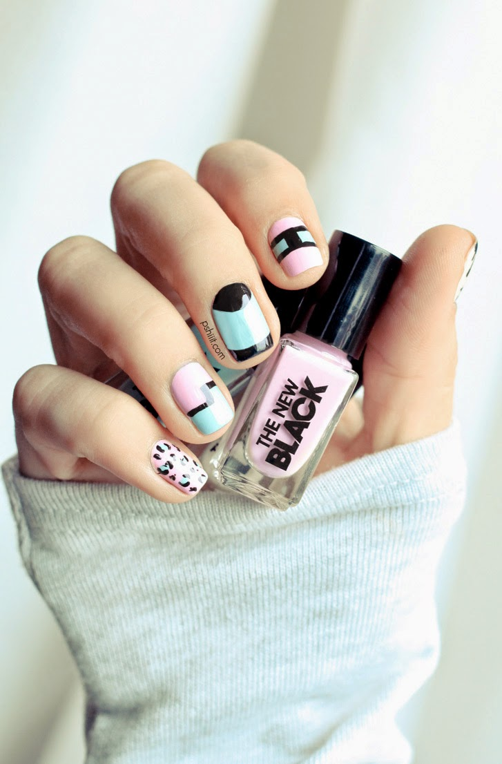 stunning black nail art