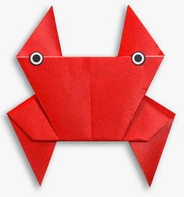 Hướng dẫn cách gấp con Cua bằng giấy đơn giản - Xếp hình Origami với Video clip