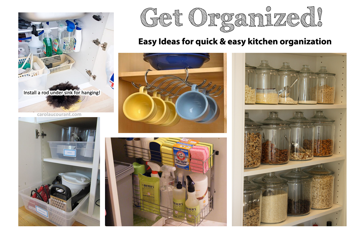 Quick Kitchen Organization for the Non-Crafty & Busy Woman ...