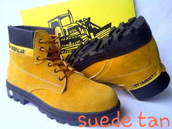 Jual Sepatu Caterpillar Safety KW Suede Tan