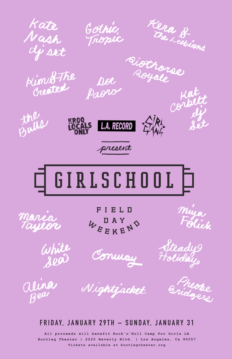 "GirlSchool ""Field Day Weekend"" - All Proceeds benefit Rock n Roll Camp for Girls"