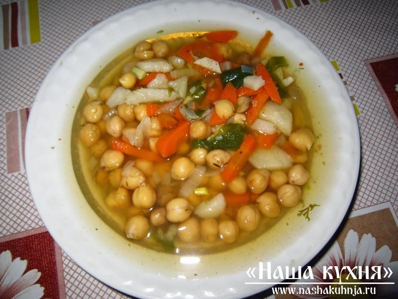 Вегетарианские рецепты суп с нутом