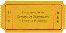 Comprovante de Entrega de Dissertações e Teses na Biblioteca