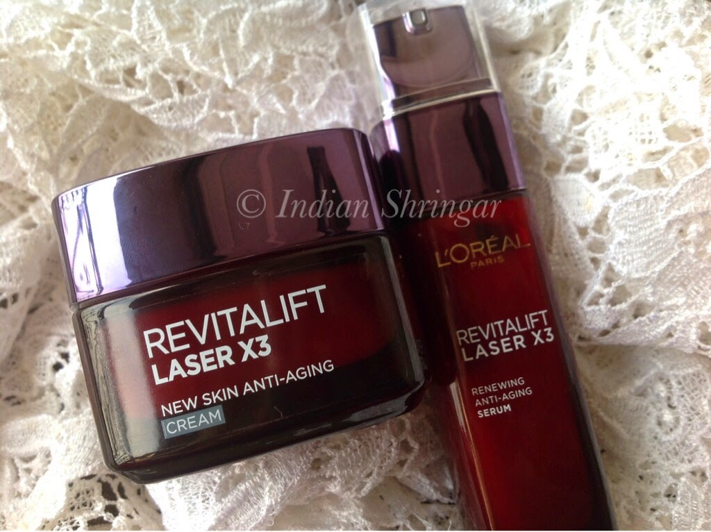 L'Oreal Revitalift Laser X3 Anti-Aging Serum and Cream
