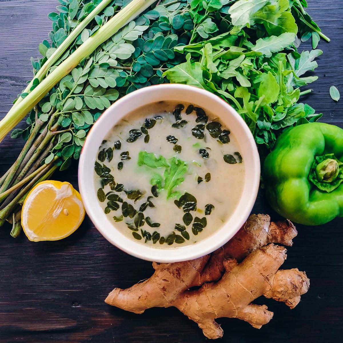 Green Soup   thumb in plum