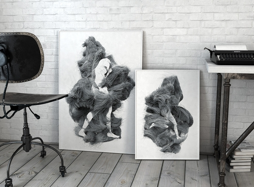 10-nogi-nogi-Janusz-Jurek-Drawings-of-Texture-Enveloping-and-Constructing-the-Body-www-designstack-co
