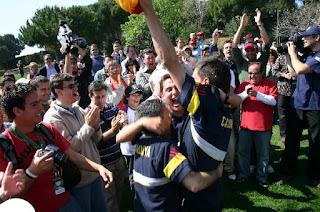 La alegría se desbordó en el 2006 en el P&P Teià en el triunfo de CAtaluña